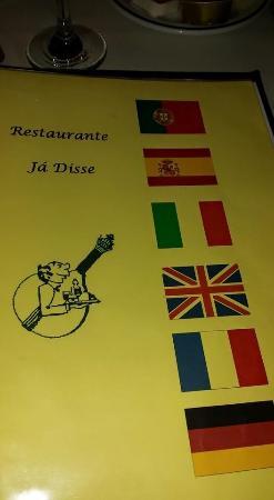 Ja Disse: the menu