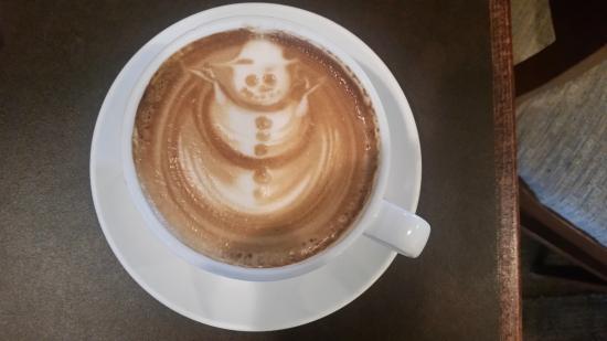 Caffe Vero: Latte art - snowman