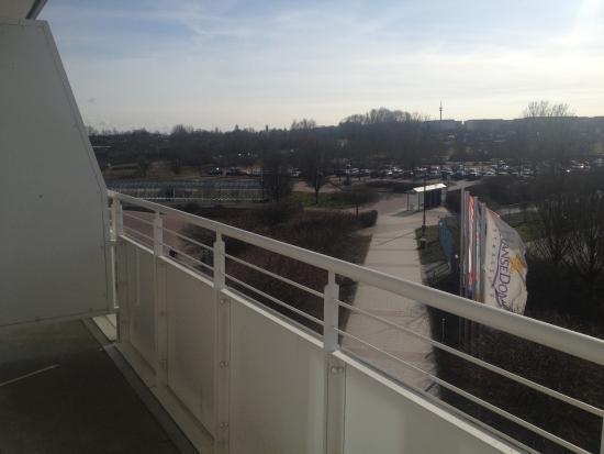 Wyndham Stralsund HanseDom: Blick vom Balkon Zi. 218