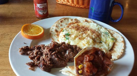 45th Parallel Cafe: Huevos Rancheros Northern Michigan Style!