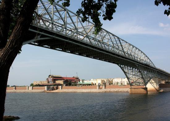 Louisiana Boardwalk: Boardwalk view from across the Red River