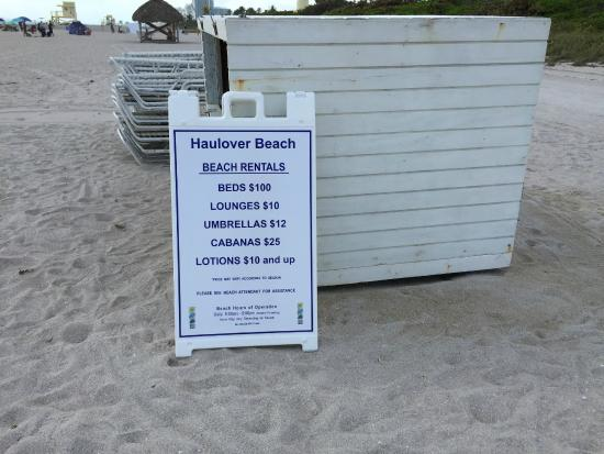 Bal Harbour, FL: Haulover Beach Rental Information