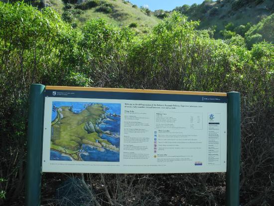 Maori Tours Kaikoura: Walking map of Kaikoura Peninsula