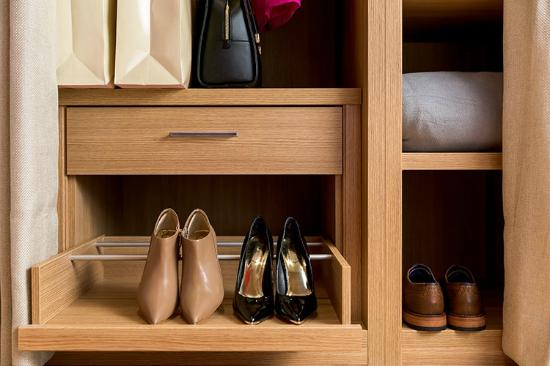 Virgin Hotels Chicago: Poliform® Closet Includes A Sliding Shoe Rack To  Keep Everything Right