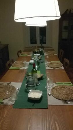 Podere San Quirico : tavolata per la cena