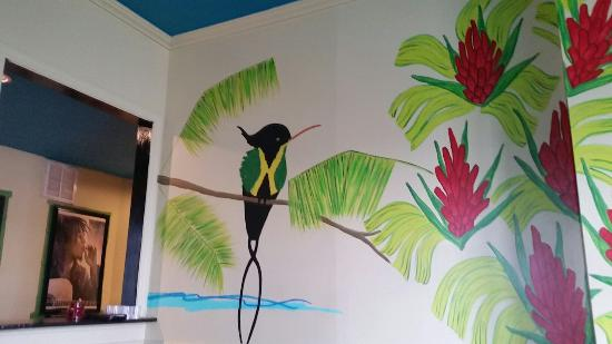 The Jerk Pit : Interior hand painting on wall