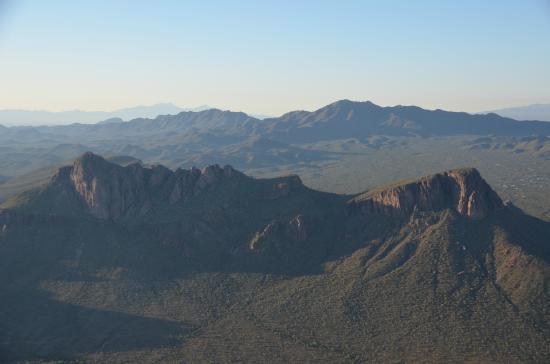 Fleur de Tucson Hot Air Balloon Rides: View of Mountains