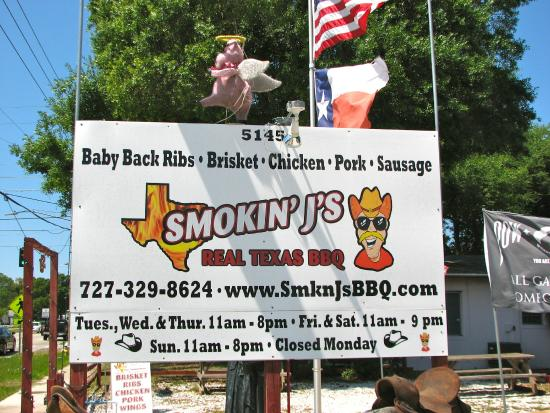 Smokin' J's Real Texas BBQ: Smokin' J's Sign