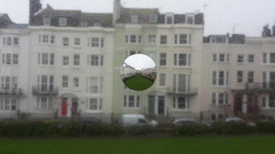 "Marine View Hotel Brighton : Amazing ""Optical Illusion "" that is viewed in the window of room 3! An area of the window has be"