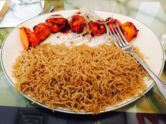 Afghan brown rice with chicken breast picture of choopan grill choopan grill afghan brown rice with chicken breast forumfinder Choice Image
