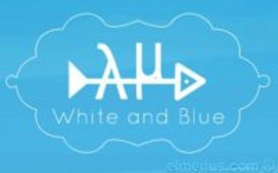 White and Blue Restaurant: Restaurant logo