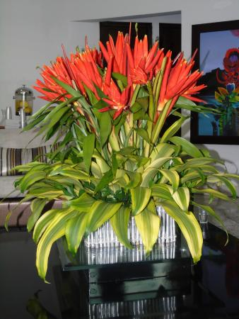 Hotel Egina Medellin : Lobby flowers