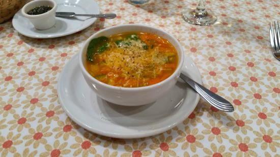 Vivoli Cafe and Trattoria: Italian vegetable soup - I added the grated cheese