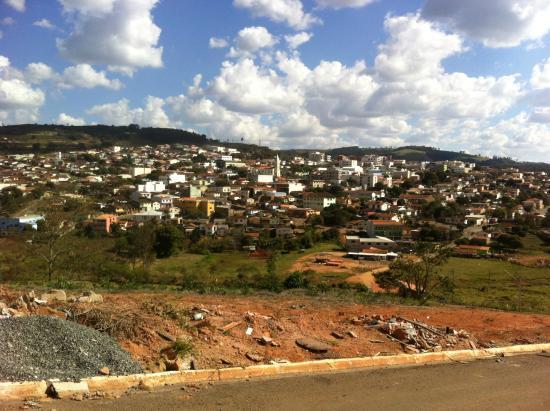 Juruaia, MG: Vista desde bairro Jardim Angela