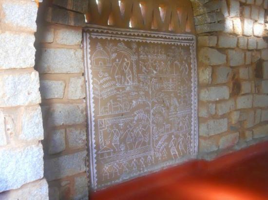 Nrityagram Tour: Traditional Odia wall art