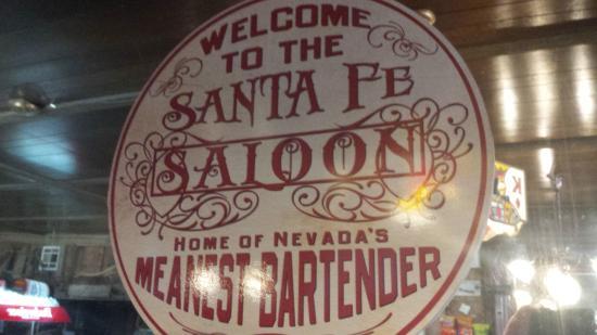 Santa Fe Motel and Saloon: sign