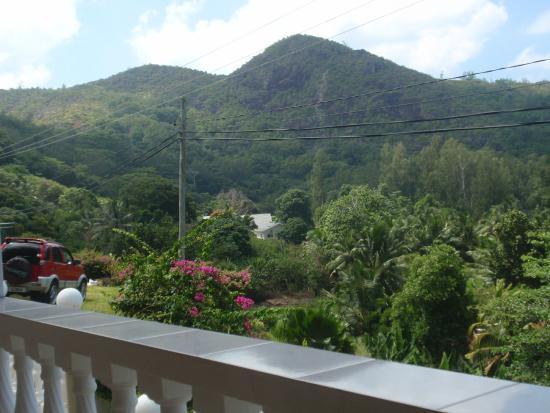Villa Anse La Blague : Blick von der Balkonterrasse