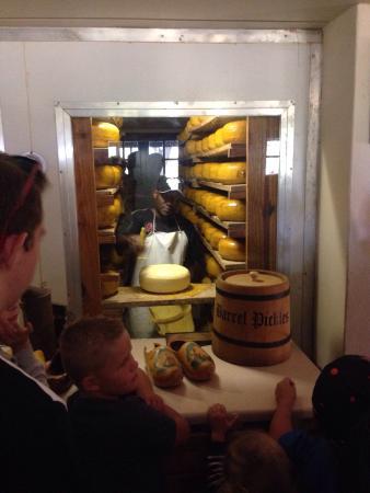 Van Gaalen Kaasmakerij: Cheese storeroom with 10 tons of cheese!