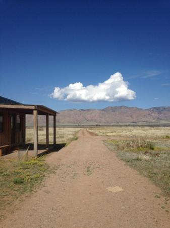 Hideout Ranch : A view of the mountains from the Red Dog Saloon.