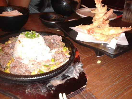 Mr. Kurosawa: The sizzling beef is so delicious! Even the rice tastes so great after being soaked w/ steak jui