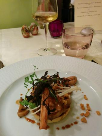 L'Hostellerie d'Acquigny : Repas lors de la soirée jazz mars 2015
