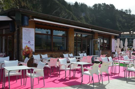 Orio, Spanje: Terraza y restaurante