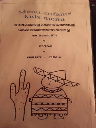 Salsa Posada: menu