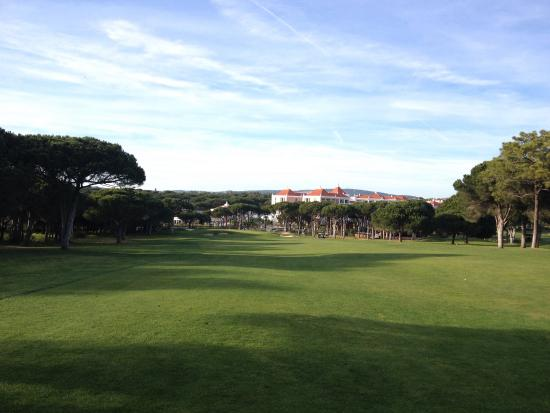 Pinhal Golf Course: View to 18th after good drive, tough finish