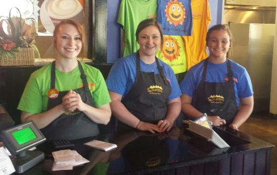 Sunrise - The Breakfast Place: It's the staff that makes the difference. These young ladies make feel welcome.