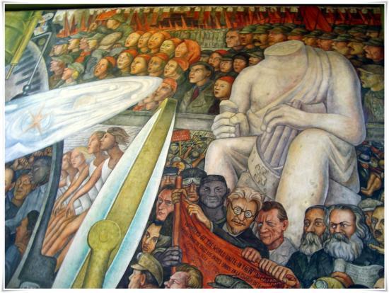 Parte Del Mural De Diego Rivera 1934 El Hombre Controlador Del