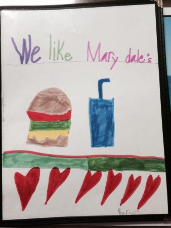 Marydale's Family Restaurant: Menu Cover. So cute.