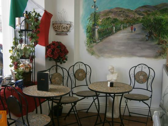 Belotti's Delicatessen & Coffee House: Our Italian coffee shop area
