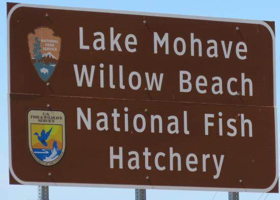 Sign for Willow Beach