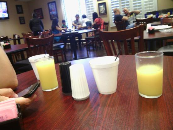 Marble Waters Hotel & Suites : Styrofoam cups served due to dirty cups.