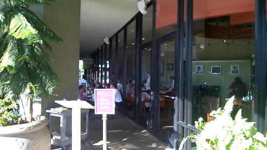 Plums Cafe: Patio Entrance at Plum's Cafe