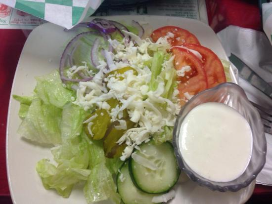 Pazzaro's Pizza & Grill : Side salad.  Great value