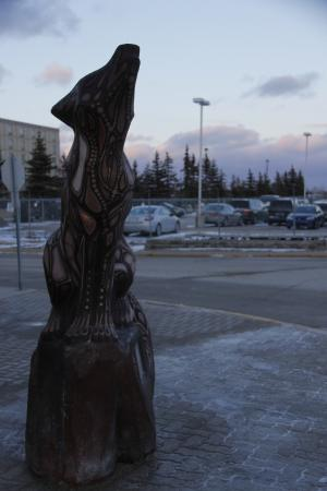 Wolf statue at entrance, Canad Inns Destination Centre Club Regent Casino Hotel     1415 Regent