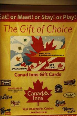Elevator advertising, the gift of choice, Canad Inns Destination Centre Club Regent Casino Hotel