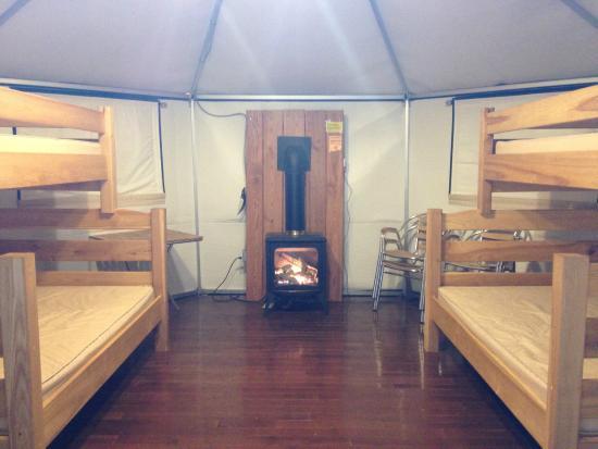 Macgregor Point Provincial Park: inside yurt