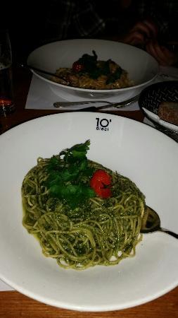 dieci al lago: Spaghetti al pesto