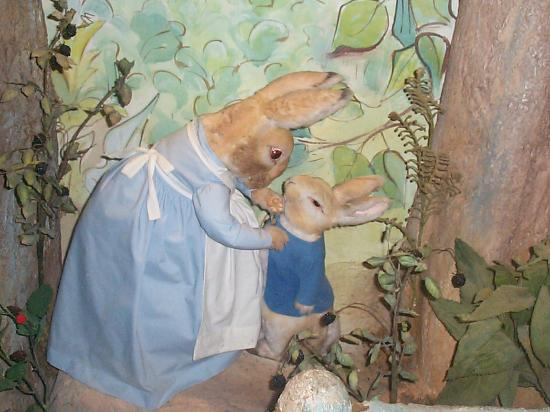 Bowness-on-Windermere, UK: Mrs rabbit and Peter
