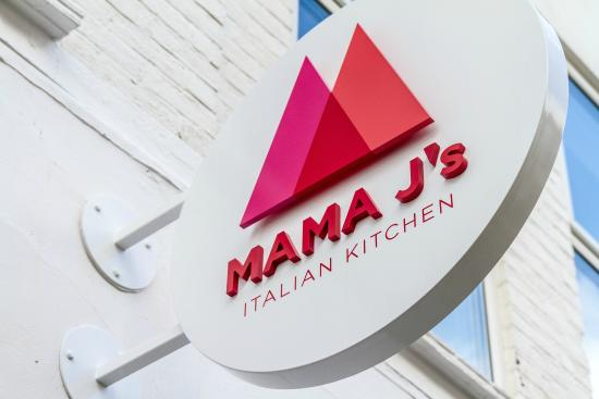 Our sign picture of mama j 39 s italian kitchen looe for Mama s italian kitchen