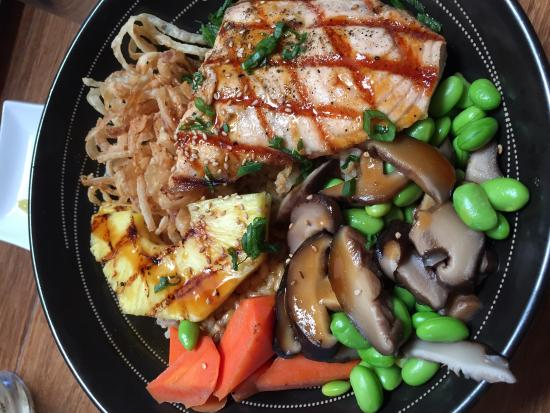 Teriyaki Salmon Rice Bowl Foto Pacific Catch San Francisco Tripadvisor