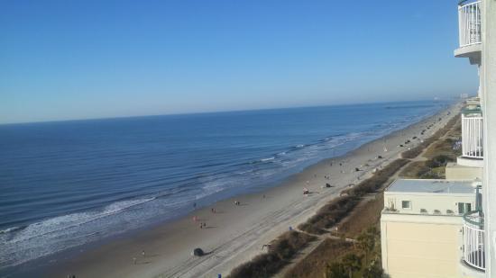 Hampton Inn Suites Myrtle Beach Oceanfront Ocean View From Room