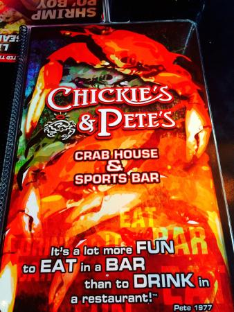 Chickie's & Pete's: Menu
