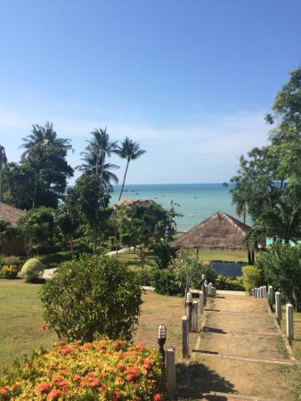 Samui Tonggad Resort: View as you walk down from villa 303 to Rang's restaurant