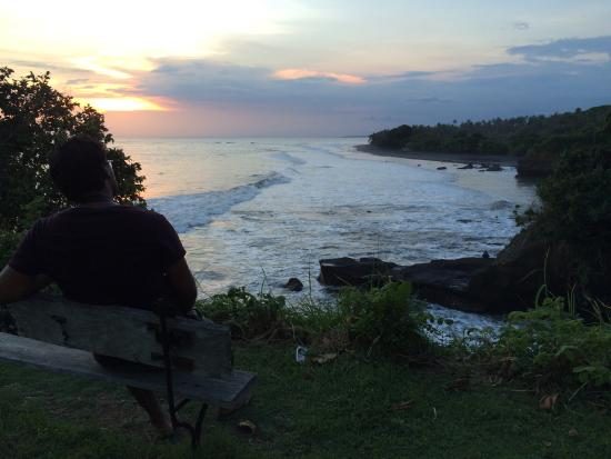 Balian Beach: sunset point