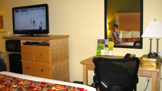 La Quinta Inn & Suites Rochester: TV and Desk Area