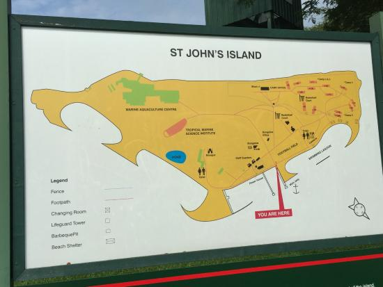 st johns island st johns map