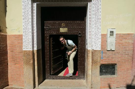 Riad Les Ammonites: Entrance to the riad